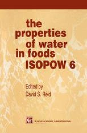 The Properties of Water in Foods ISOPOW 6