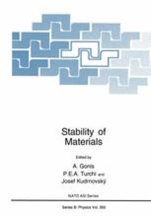 Stability of Materials
