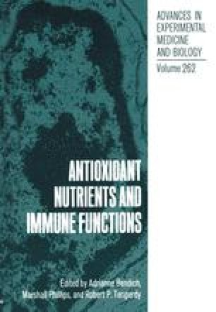 Antioxidant Nutrients and Immune Functions