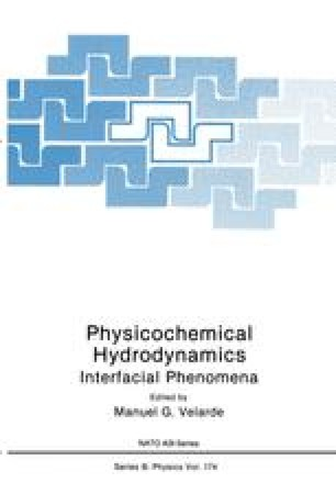 Physicochemical Hydrodynamics