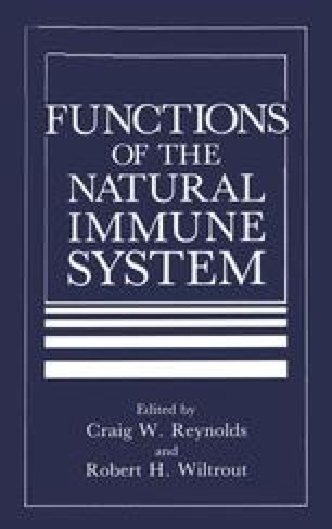Functions of the Natural Immune System
