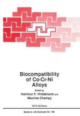 Biocompatibility of Co-Cr-Ni Alloys
