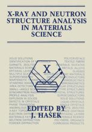 X-Ray and Neutron Structure Analysis in Materials Science