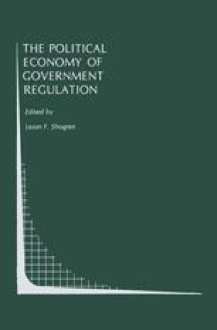 The Political Economy of Government Regulation