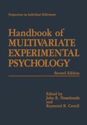Handbook of Multivariate Experimental Psychology