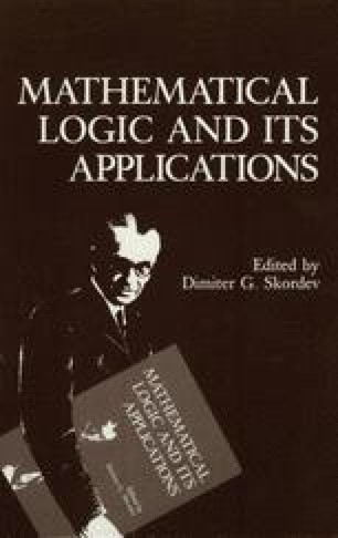 Mathematical Logic and Its Applications
