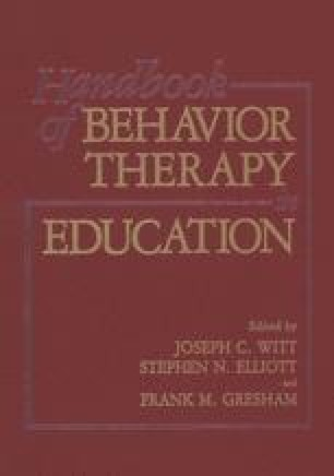 Handbook of Behavior Therapy in Education