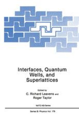 Interfaces, Quantum Wells, and Superlattices
