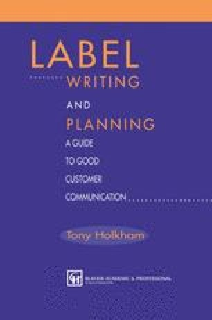 Label Writing and Planning