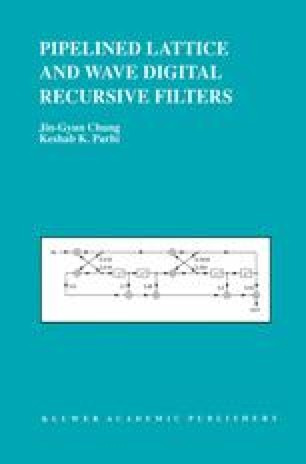 Pipelined Lattice and Wave Digital Recursive Filters