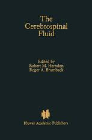 The Cerebrospinal Fluid