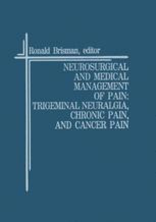 Neurosurgical and Medical Management of Pain: Trigeminal Neuralgia, Chronic Pain, and Cancer Pain