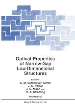Optical Properties of Narrow-Gap Low-Dimensional Structures