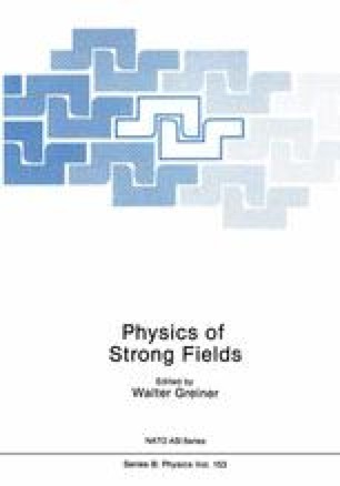 Physics of Strong Fields