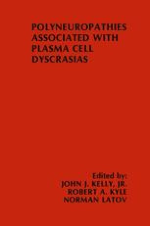 Polyneuropathies Associated with Plasma Cell Dyscrasias