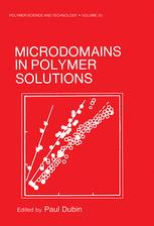 Microdomains in Polymer Solutions