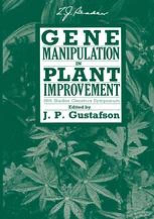 Gene Manipulation in Plant Improvement