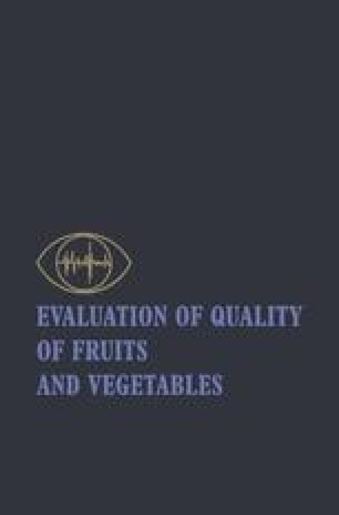 Evaluation of Quality of Fruits and Vegetables