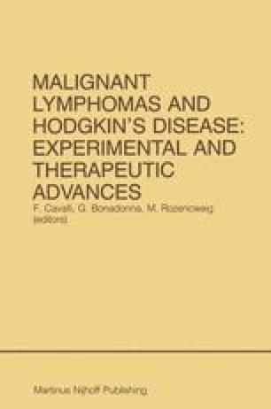 Malignant Lymphomas and Hodgkin's Disease: Experimental and Therapeutic Advances