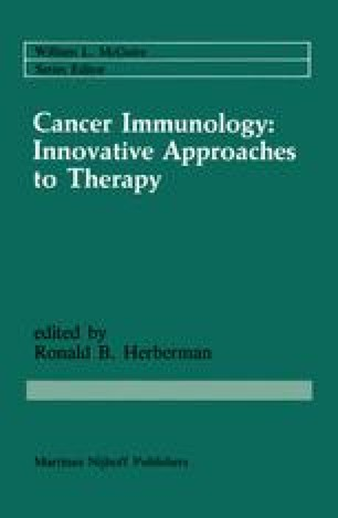 Cancer Immunology: Innovative Approaches to Therapy