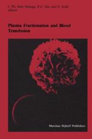 Plasma Fractionation and Blood Transfusion