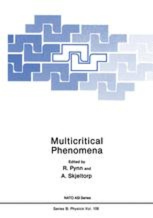 Multicritical Phenomena