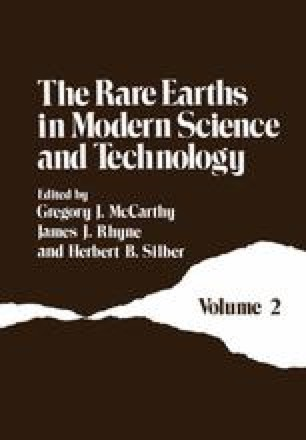 The Rare Earths in Modern Science and Technology