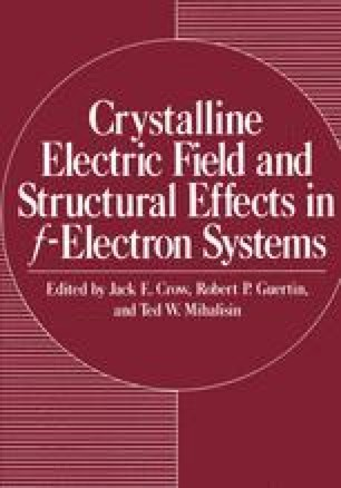 Crystalline Electric Field and Structural Effects in f-Electron Systems