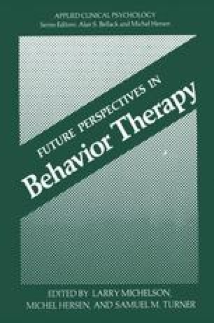 Future Perspectives in Behavior Therapy
