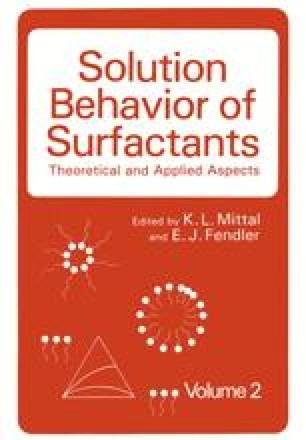 Solution Behavior of Surfactants