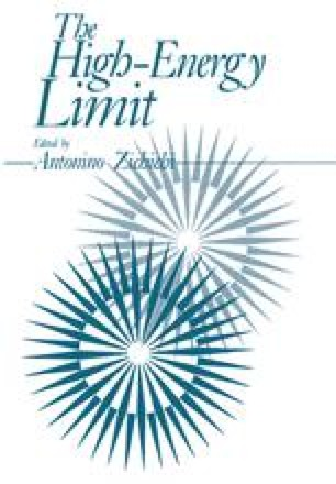 The High-Energy Limit