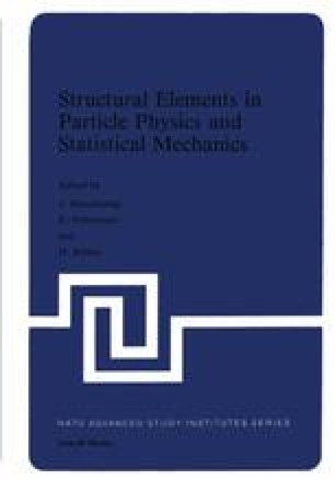 Structural Elements in Particle Physics and Statistical Mechanics