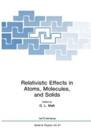 Relativistic Effects in Atoms, Molecules, and Solids