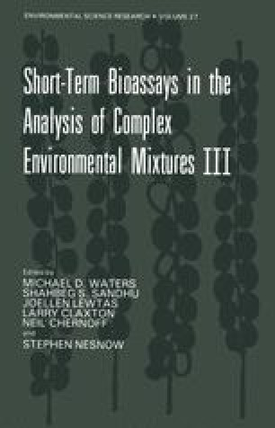 Short-Term Bioassays in the Analysis of Complex Environmental Mixtures III