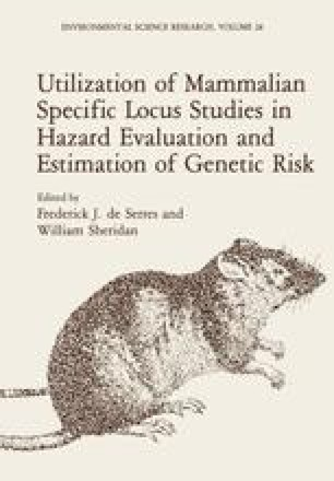 Utilization of Mammalian Specific Locus Studies in Hazard Evaluation and Estimation of Genetic Risk
