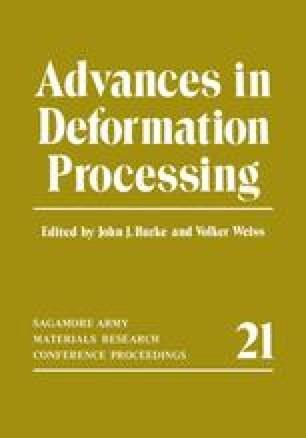 Advances in Deformation Processing