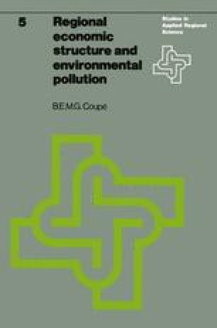 Regional economic structure and environmental pollution