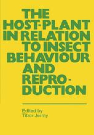 The Host-Plant in Relation to Insect Behaviour and Reproduction