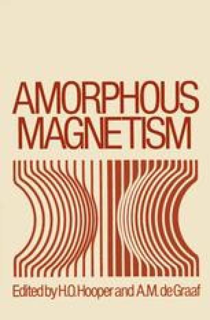Amorphous Magnetism