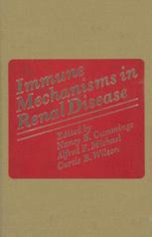 Immune Mechanisms in Renal Disease
