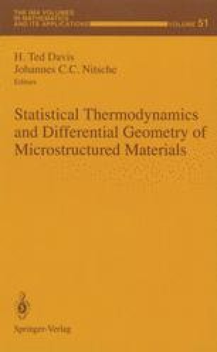 Statistical Thermodynamics and Differential Geometry of Microstructured Materials