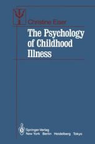 The Psychology of Childhood Illness