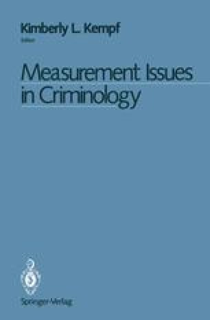 Measurement Issues in Criminology