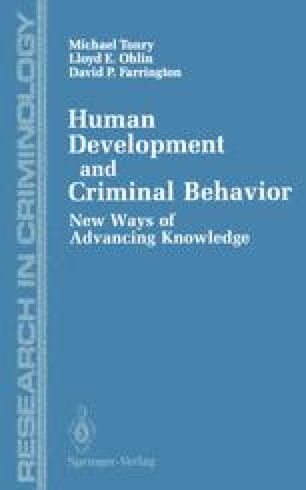 Human Development and Criminal Behavior