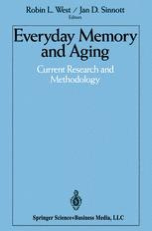 Everyday Memory and Aging