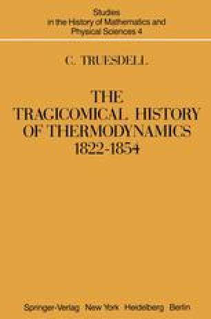 The Tragicomical History of Thermodynamics, 1822–1854