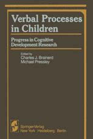Verbal Processes in Children
