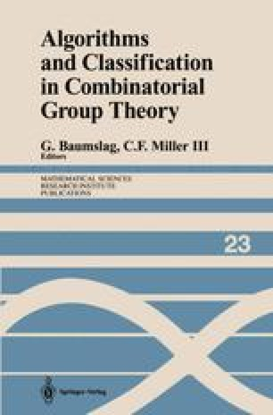 Algorithms and Classification in Combinatorial Group Theory