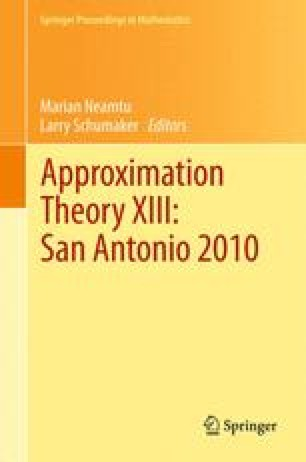 Approximation Theory XIII: San Antonio 2010