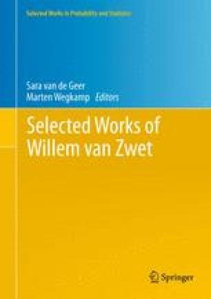 Selected Works of Willem van Zwet